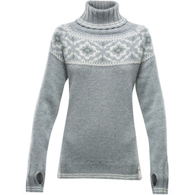 Devold Ona Round Sweater Damen grey melange